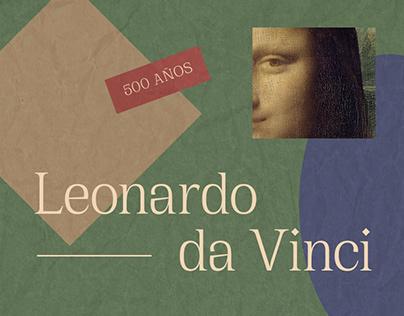Leonardo Da Vinci | Scrollytelling Website