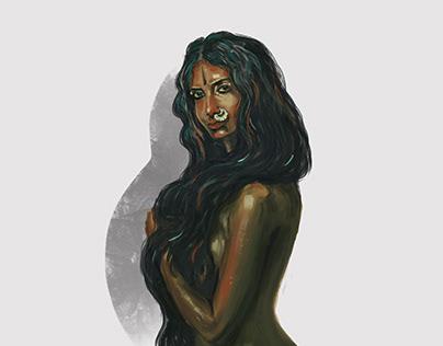 Indian lady   Digital Illustration