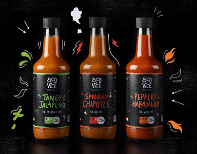 Packaging Design | Scoville Chilli Sauce