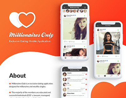Millionaires Club | Dating Mobile Application