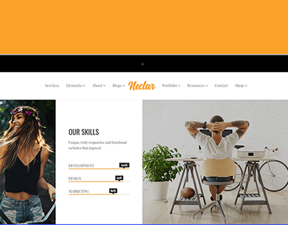 Tablet View - Nectar WordPress Theme Responsive