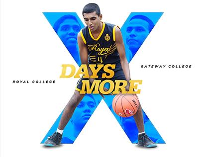 Countdown Poster for Basketball Encounter