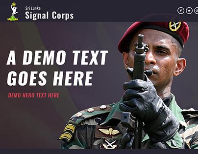 Sri Lanka Army Signal Corps Layout design
