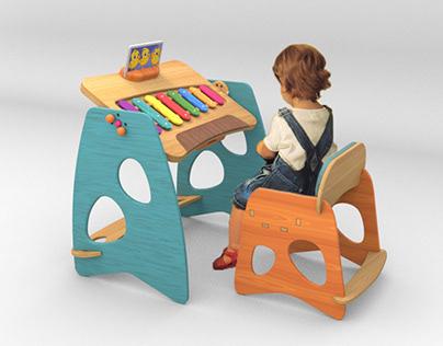 Bum-Pa Mobiliario interactivo para niños de 4 a 6 años