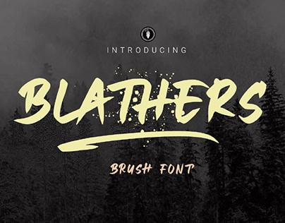FREE | Blathers Brush Font