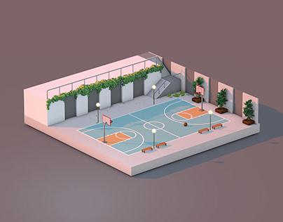 Speed Model 006 - Basketball Court