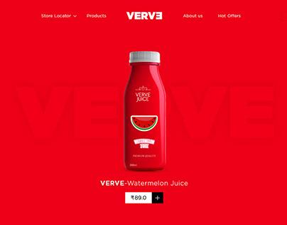VERVE Fruit Juice inspirational website design.