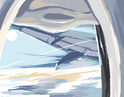 Southwest Air - Speedpaint