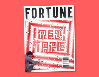 Fortune Magazine Tape Mural