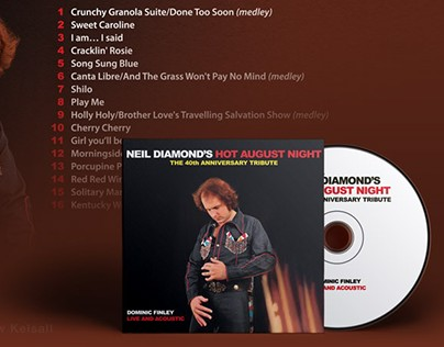 CD Sleeve For Neil Diamond Tribute Act