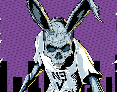 "Poster ""NEV"" Human Rabbit"