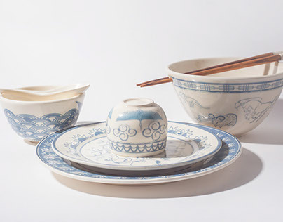 Mismatched Chinese Dinner Set