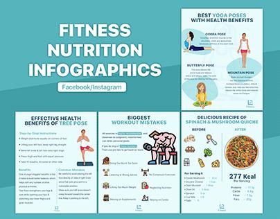 Health, Fitness & Nutrition Social Media Infographics