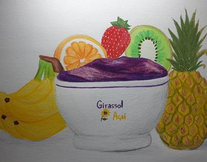 Desenhos feitos à lápis (grafite/lápis de cor)