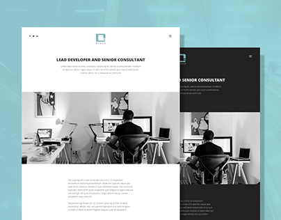 Light & dark version of Denko WordPress Theme