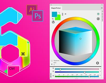 Color Wheel for Photoshop CC/2014,CS6,CS5,CS4,CS3 panel