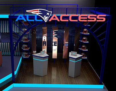 New England Patriots All Access TV set design