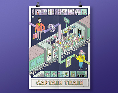 Captain Train - Greetings Poster 2016