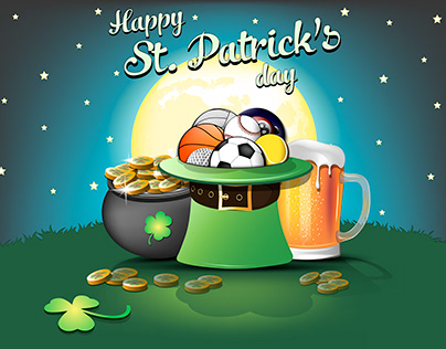 St. Patrick's day sport illustration and more