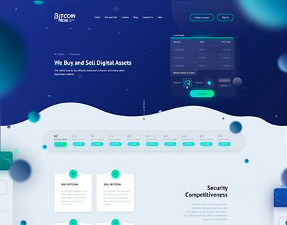Bitcoin Here / Web Design