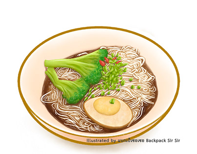 Taiwan thin noodles with sesame oil