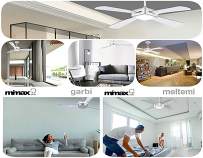Meltemi & Garbí Mimax Fans with light ght