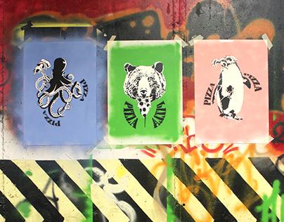 Animal Caesars / Stencil