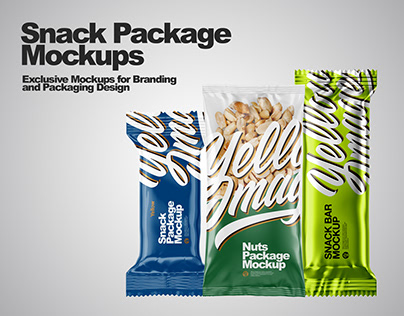 Snack Package Mockups