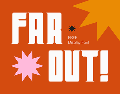 Far Out! - A Free Display Font