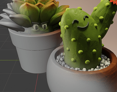 3D Character Design | Cactus Brothers