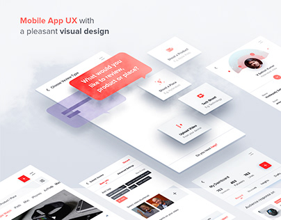 Mobile App UX-UI with a Pleasant Visual Design