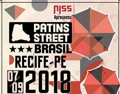 Cartazes Conceito Circuito Patins Street Brasil 2018