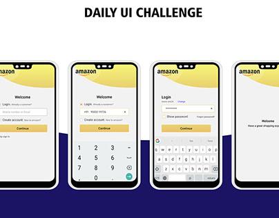 Redesign Amazon login screen | UI design