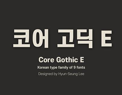 Core Gothic E_Korean Type Family (9 Fonts)