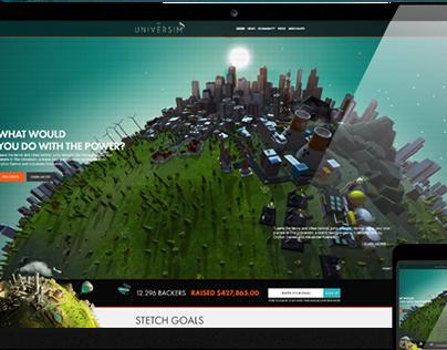 The Universim Website Design