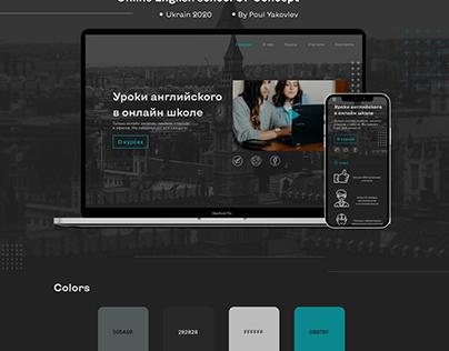 Online English school UI Concept