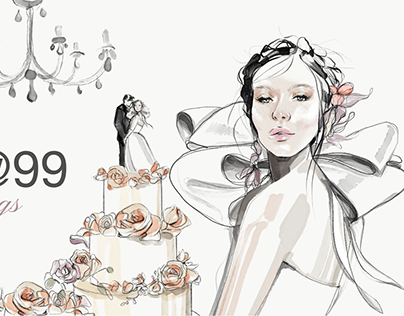 Email Header Illustration - Weddings