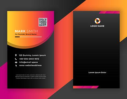 Vertical Business Card Design