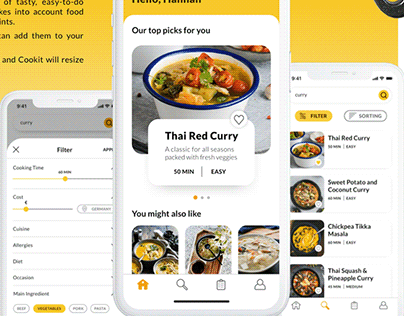 Cookit: User Research and Unser Interface Design
