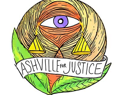 Asheville 4 Justice logo