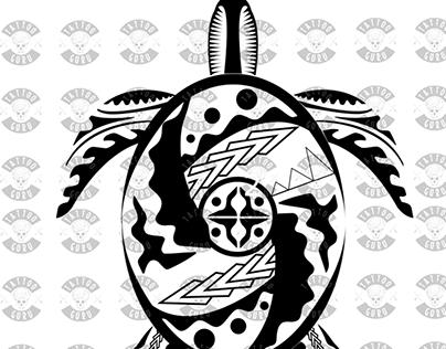 Maori Tattoo Turtle