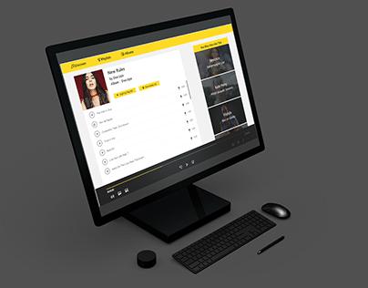 Web Music Player Application