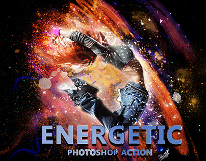 Energetic Photoshop Action