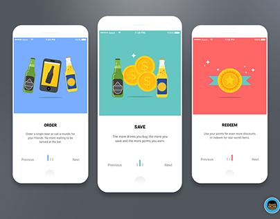 Simple mobile app oboarding screens