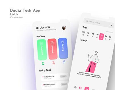 Dayliz. Task app Ui/Ux design