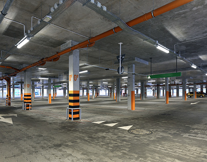 Multi-level Car Parking | Architectural photography