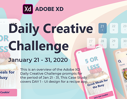 Daily Creative Challenge - 21 - 31 Jan 20. Day 1