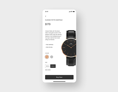 Daily UI Challenge #033 - Customize Product