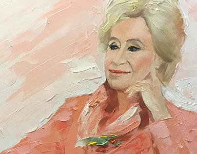 Birthe Kjær. 4-hour sketch