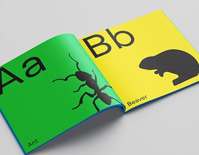 Alphabet book concept